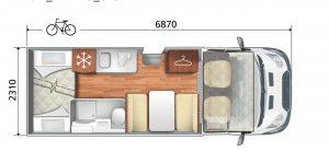Zefiro 675 motorhome_hire_rent_gowild_campervan_sussex_outdoor 675